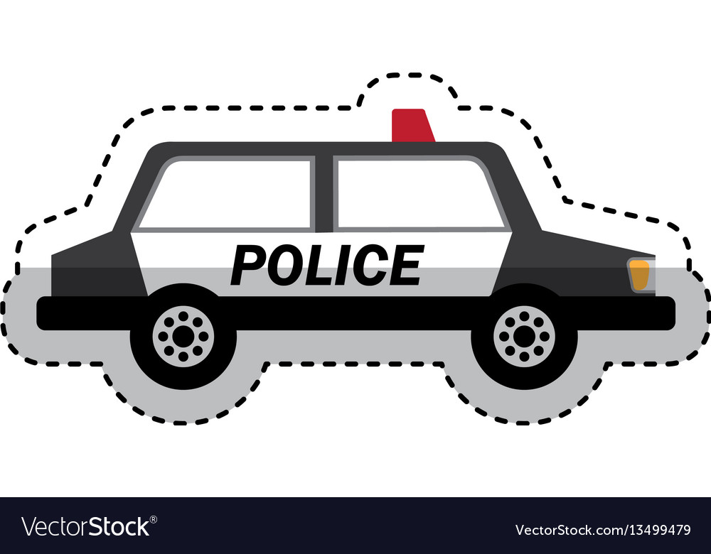 Police patrol isometric icon vector image