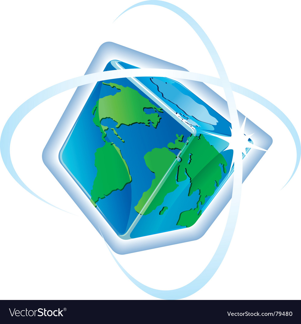 Square globe vector image