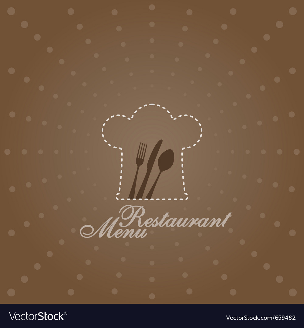 Menu with chef symbol vector image