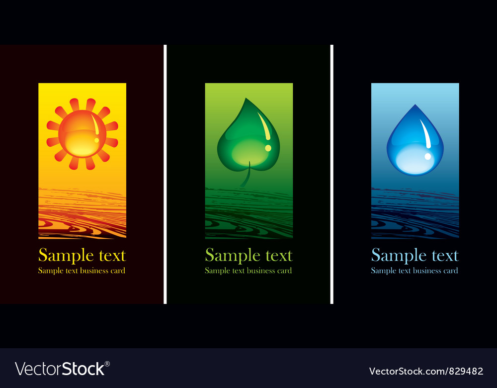 Nature symbols vector image