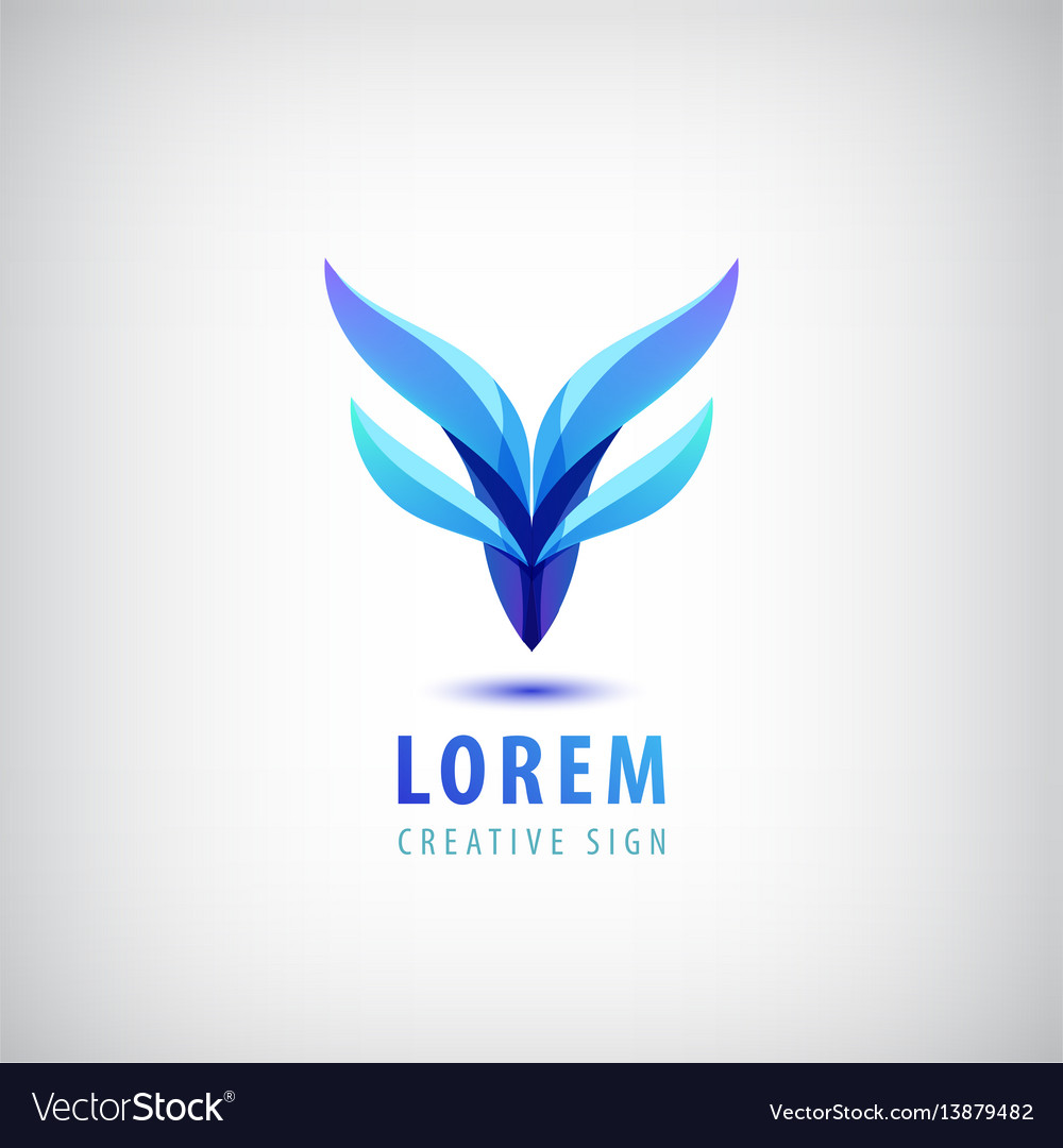 Abstract wavy dual blue logo corporate vector image