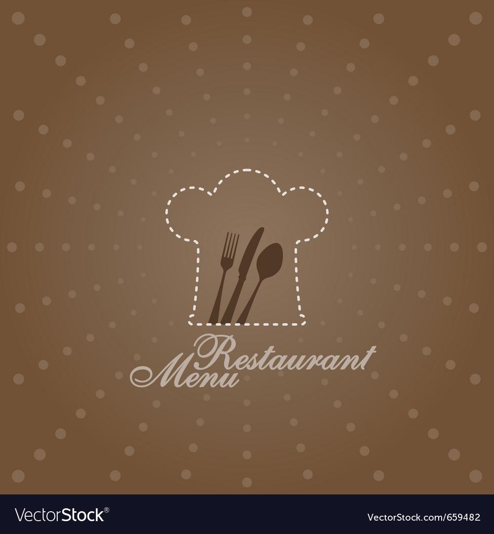 Menu with chef symbol vector image