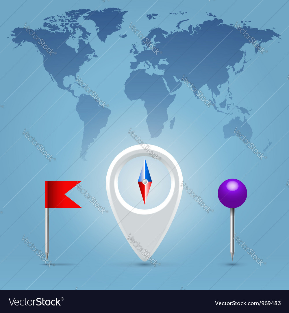 Compass point vector image