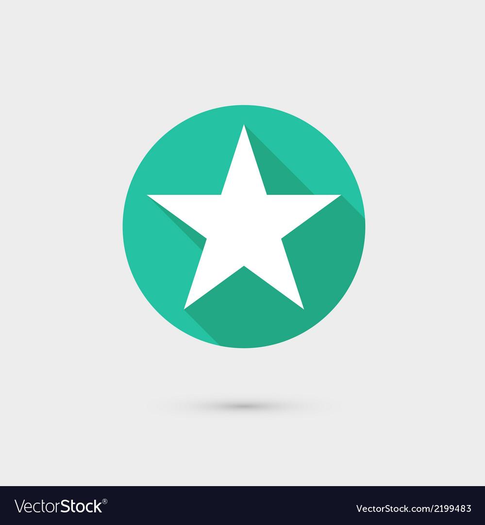 Star icon long shadow flat design vector image