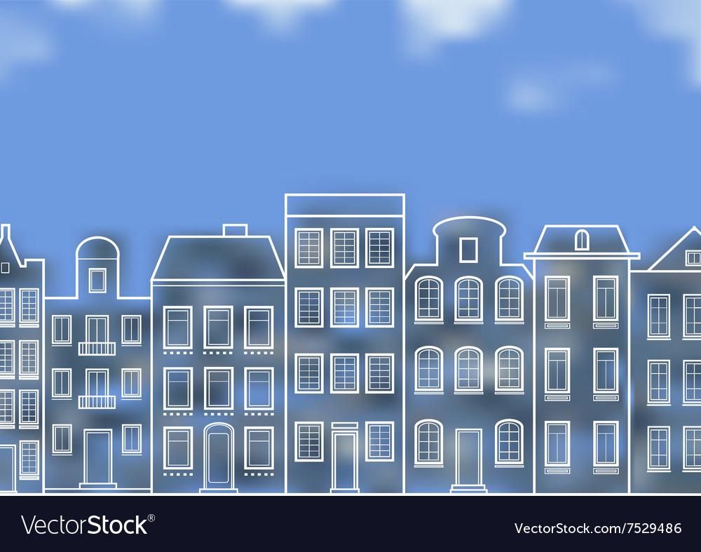 Facade of the European city vector image