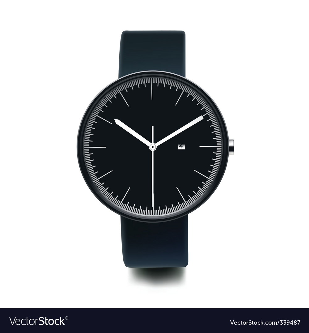 Wristwatch vector image