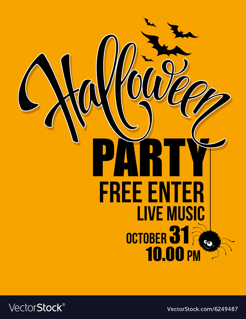 Halloween party Happy holiday vector image