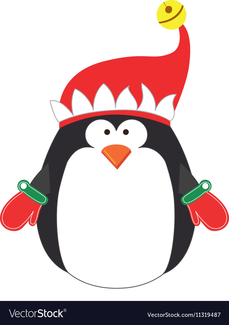 Penguin cartoon icon image vector image