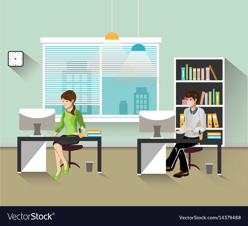 People work in the office vector image