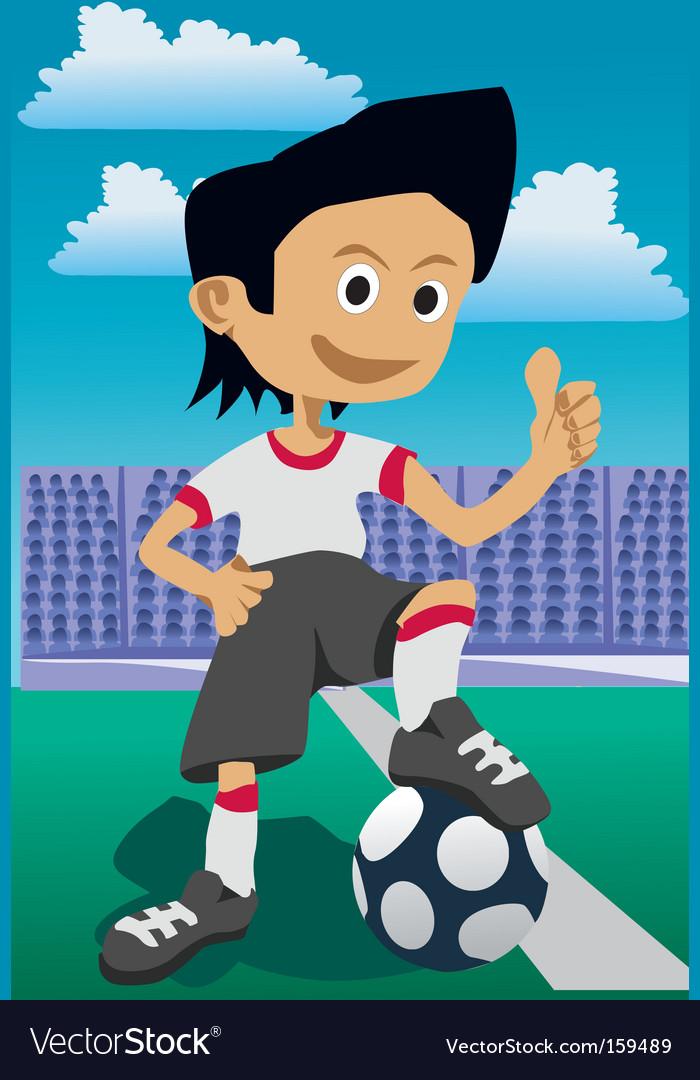 Soccer guy vector image