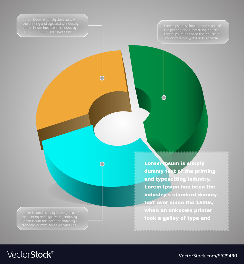 Pie chart business diagram vector image