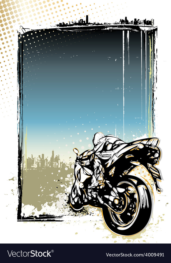 Moto gp poster vector image