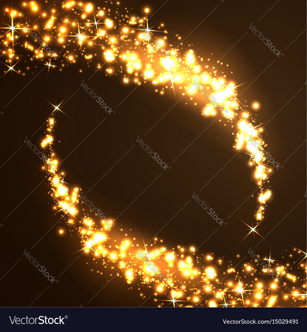 Two falling christmas star background vector image