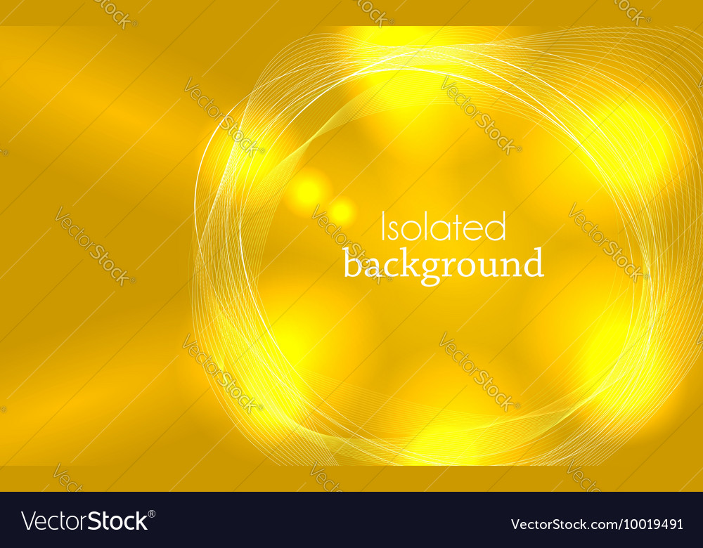 Yellow Abstract Mesh Background with Circles vector image