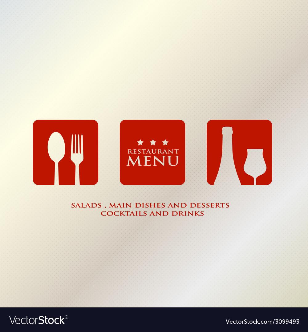 Menu design presentation in metallic background vector image