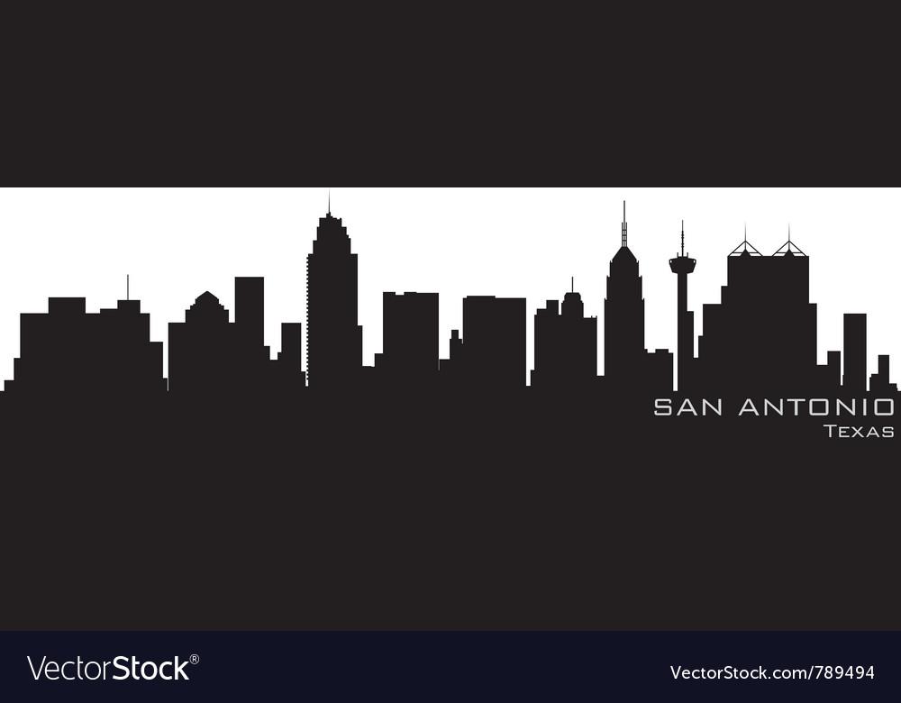 San antonio texas skyline detailed silhouette vector image