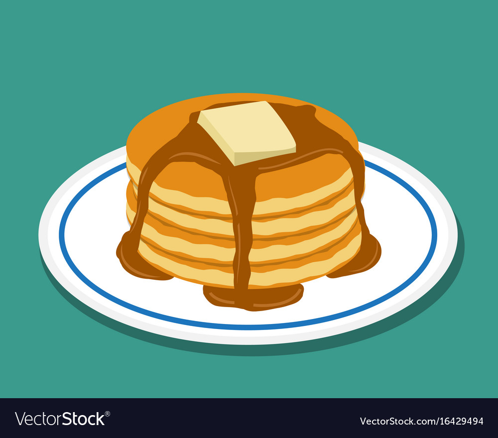 Pan cake in flat style isolated vector image