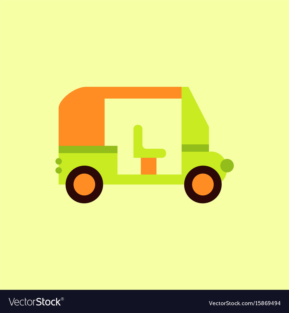 Transportation golf cart flat icon