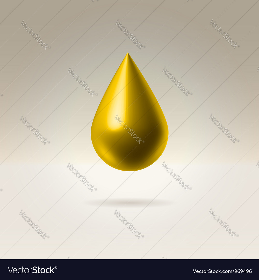 Golden drop vector image