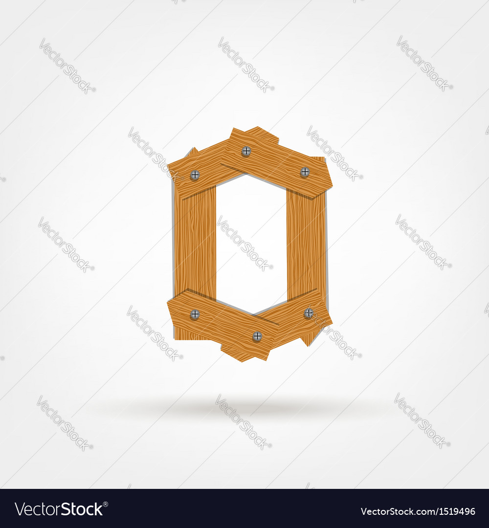 Wooden Boards Zero vector image
