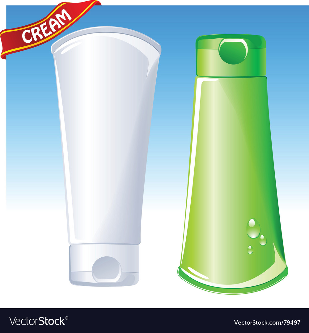 Cosmetic container vector image
