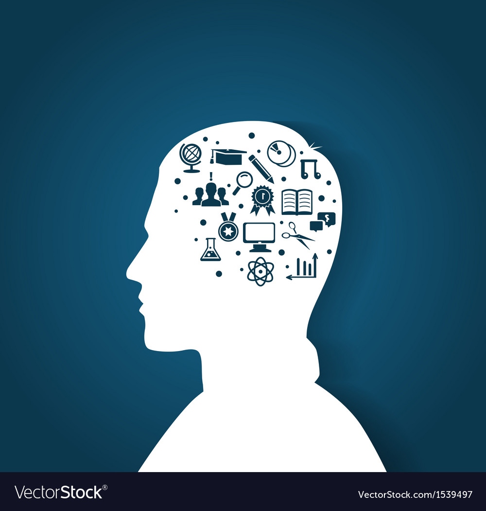 Education head28 vector image