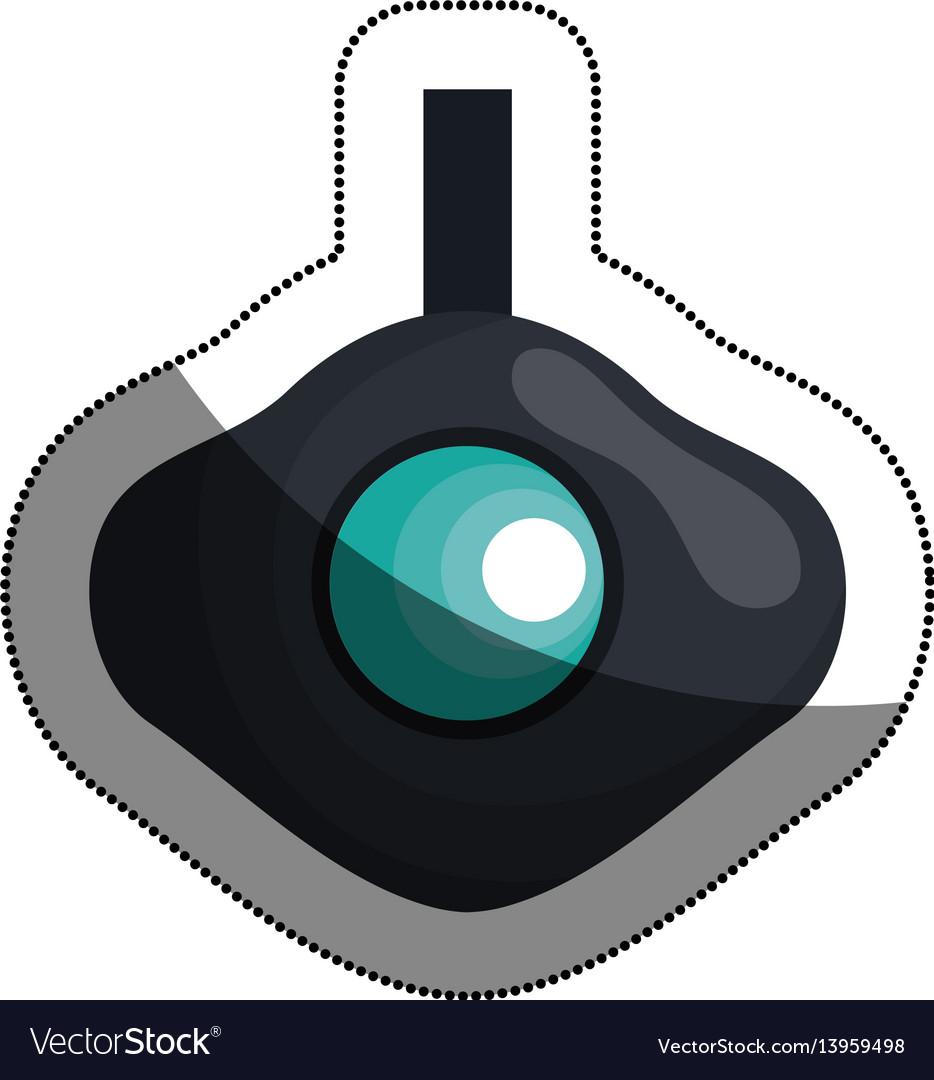 Go pro video camera icon vector image