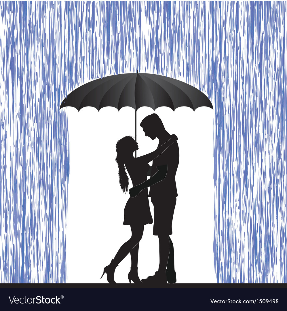 Kissing couple Man and woman in love Royalty Free Vector for Couple Silhouette Umbrella Kissing  8lpfiz
