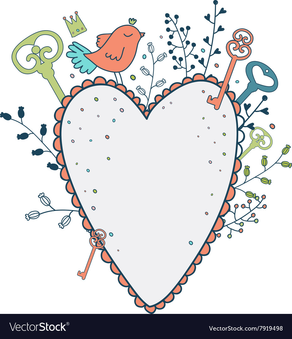 Love frame Spring of cute vector image