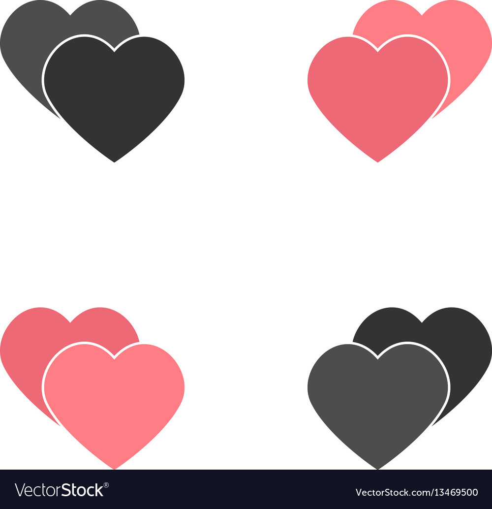 Abstract heart element for design vector image