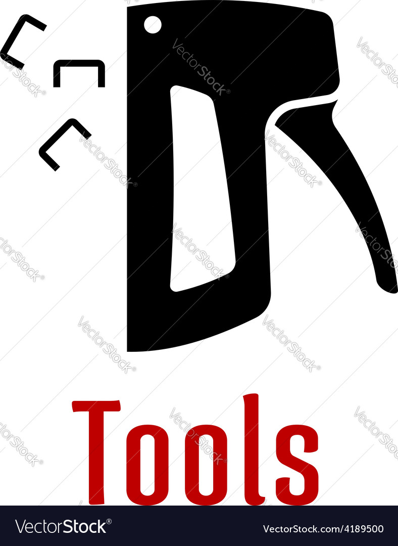 Black silhouette of staple gun tool royalty free vector black silhouette of staple gun tool vector image biocorpaavc