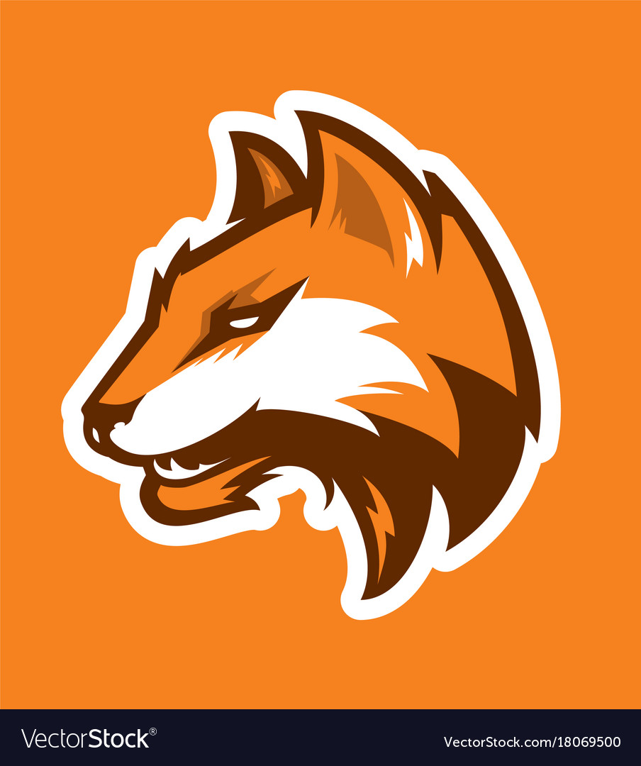 Fox head sport logotype vector image