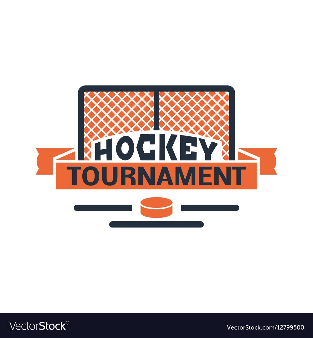 Hockey label vector image