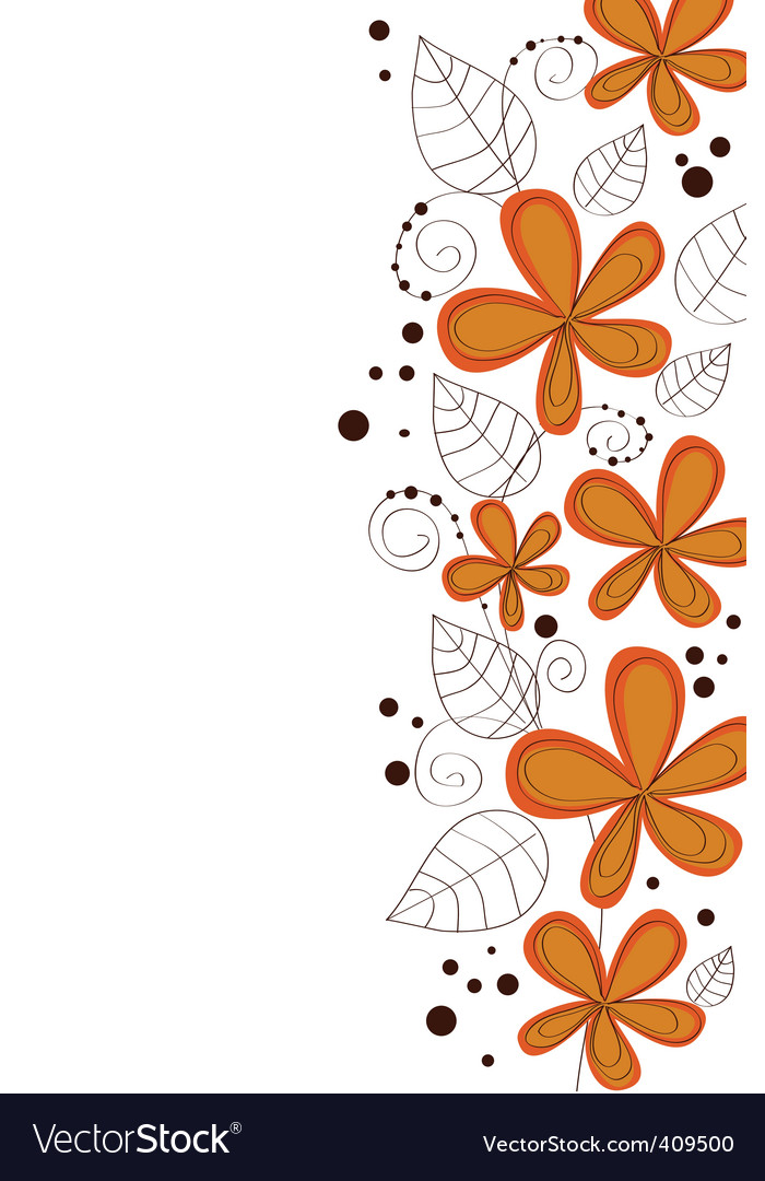 Vector flower design vector image