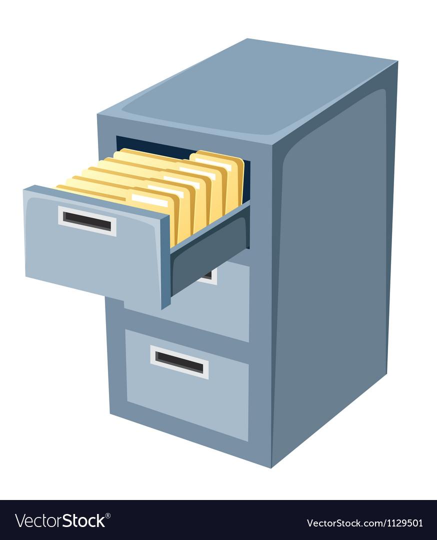 File cabinet Royalty Free Vector Image - VectorStock