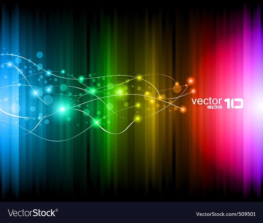 Futuristic rainbow vector image