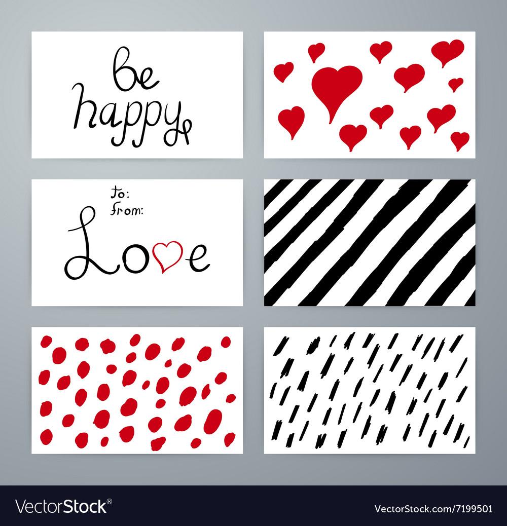 Set of design elements love Hand drawn vector image