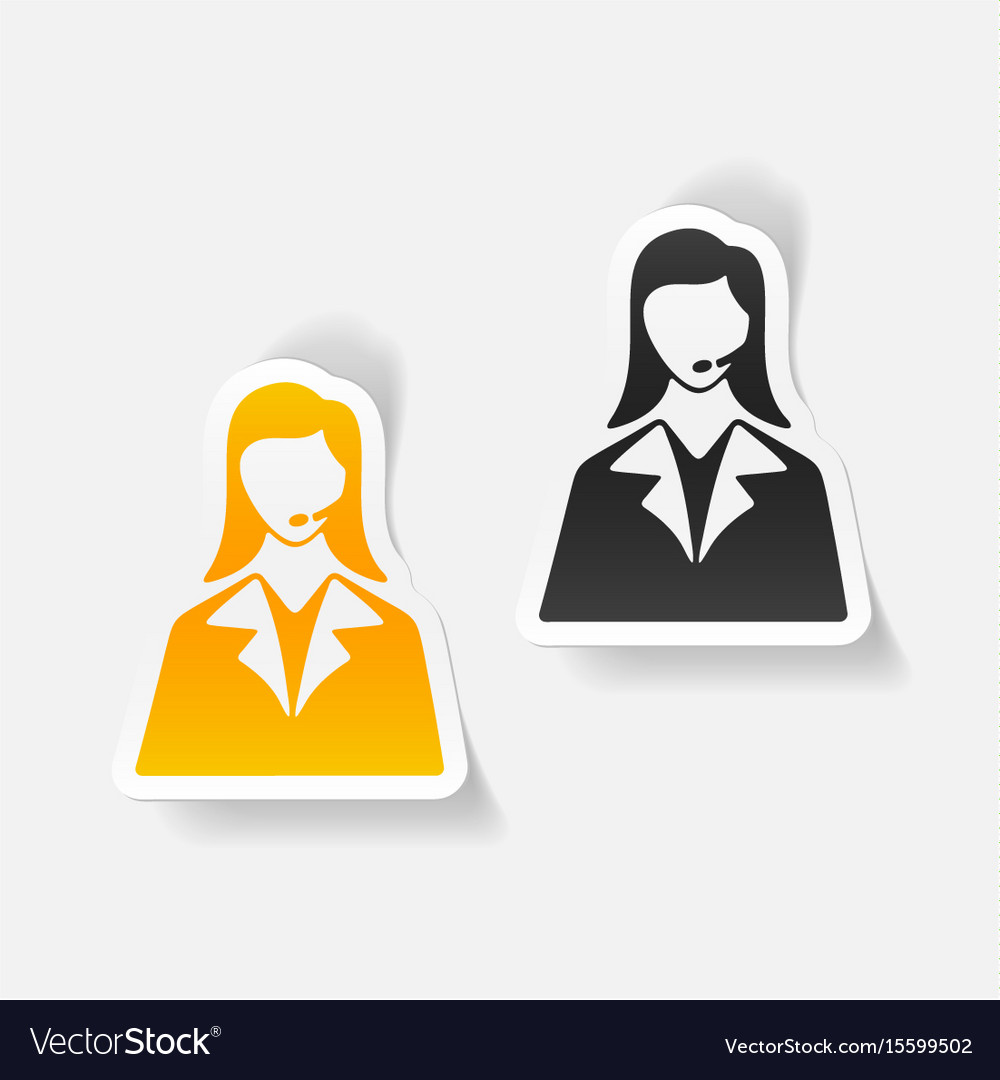 Realistic design element telephone operator vector image