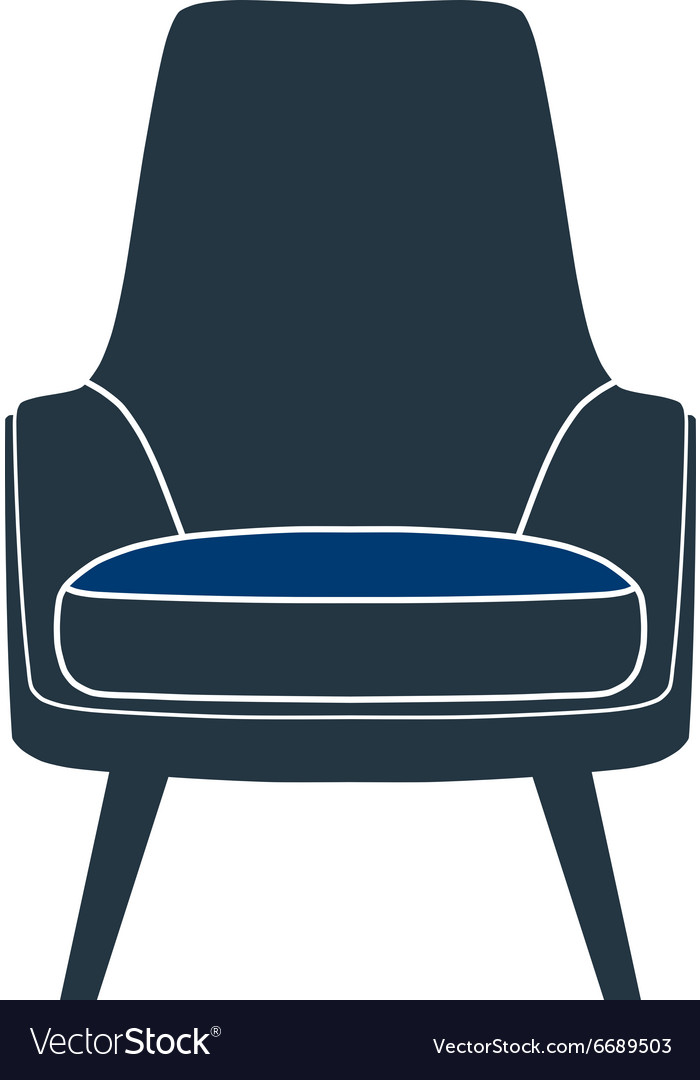 Chair seat armchair stool vector image