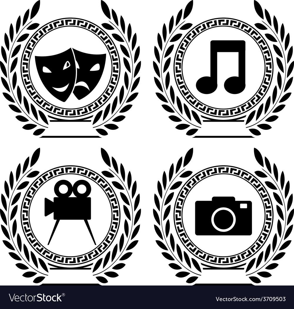 Set of symbols of achievement royalty free vector image set of symbols of achievement vector image buycottarizona