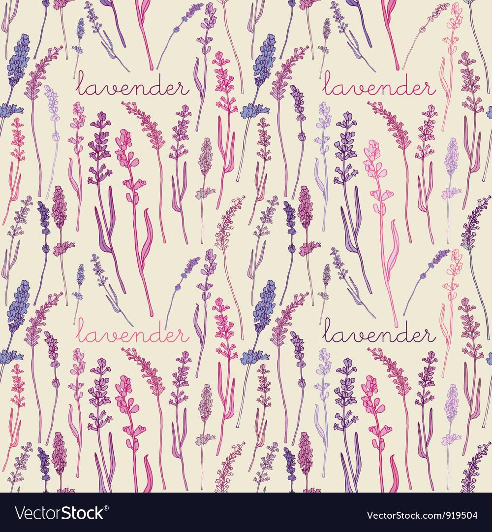 Lavender Pattern Background vector image