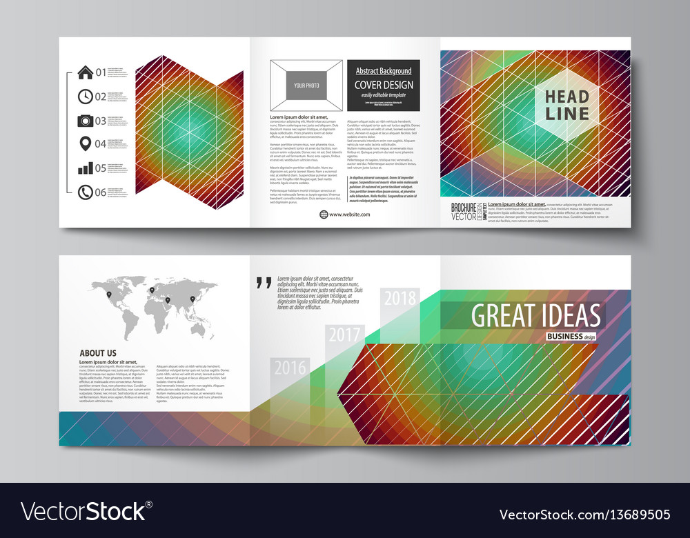 square brochures