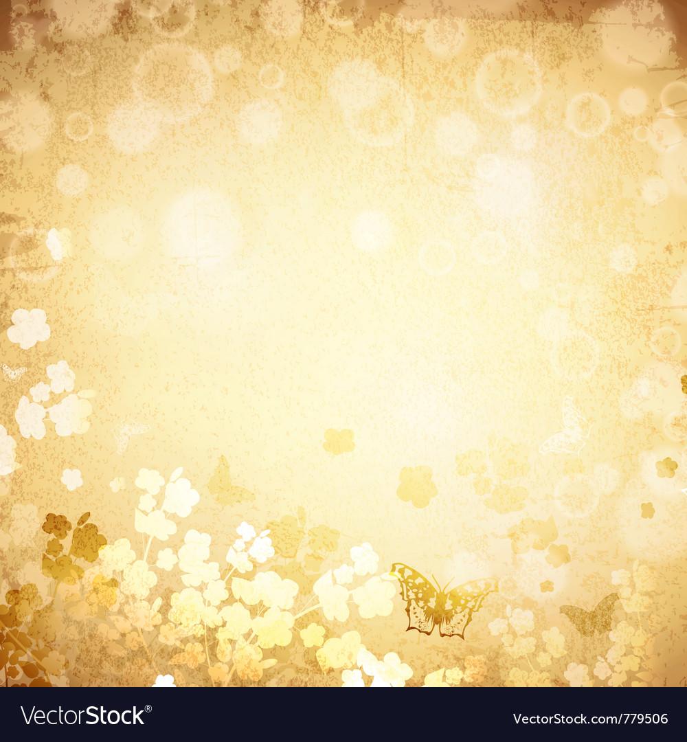 Vintage grunge spring background vector image