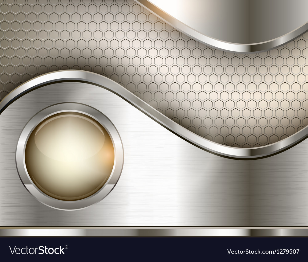Abstract background with a metallic element vector image