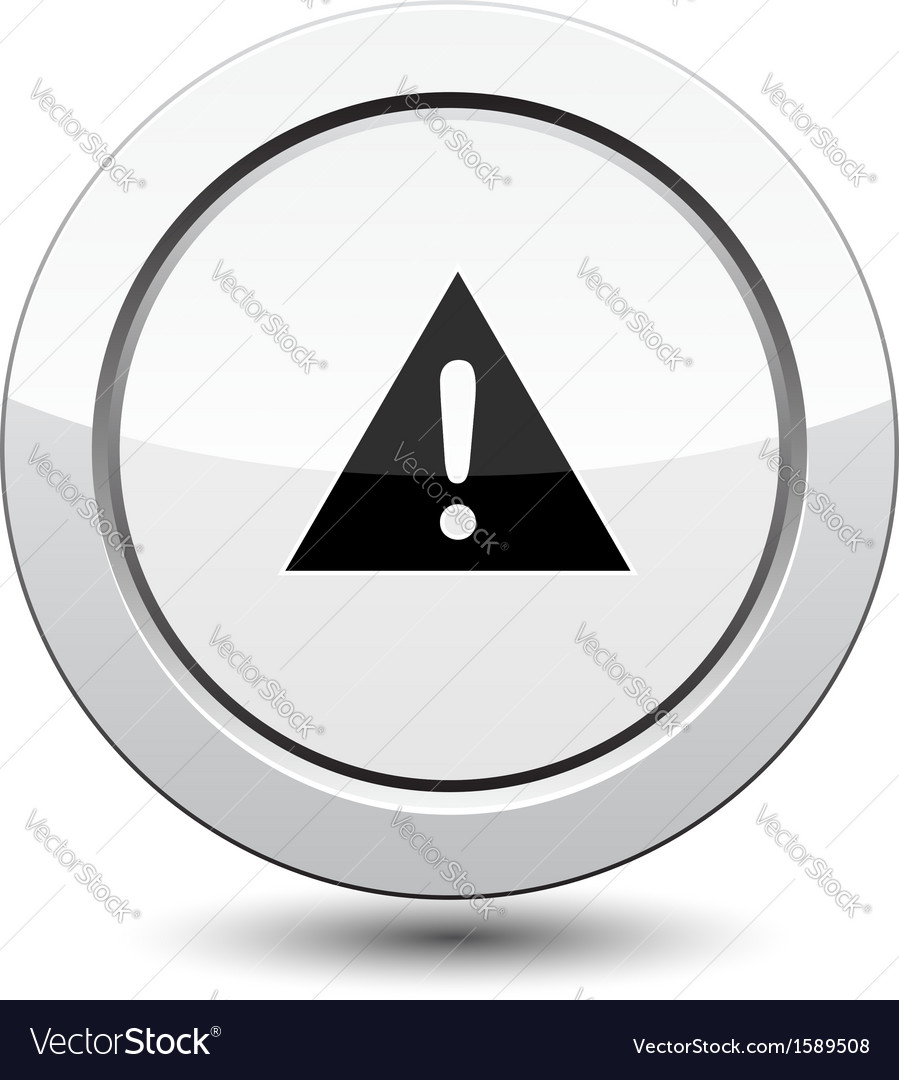Button with danger sign vector image
