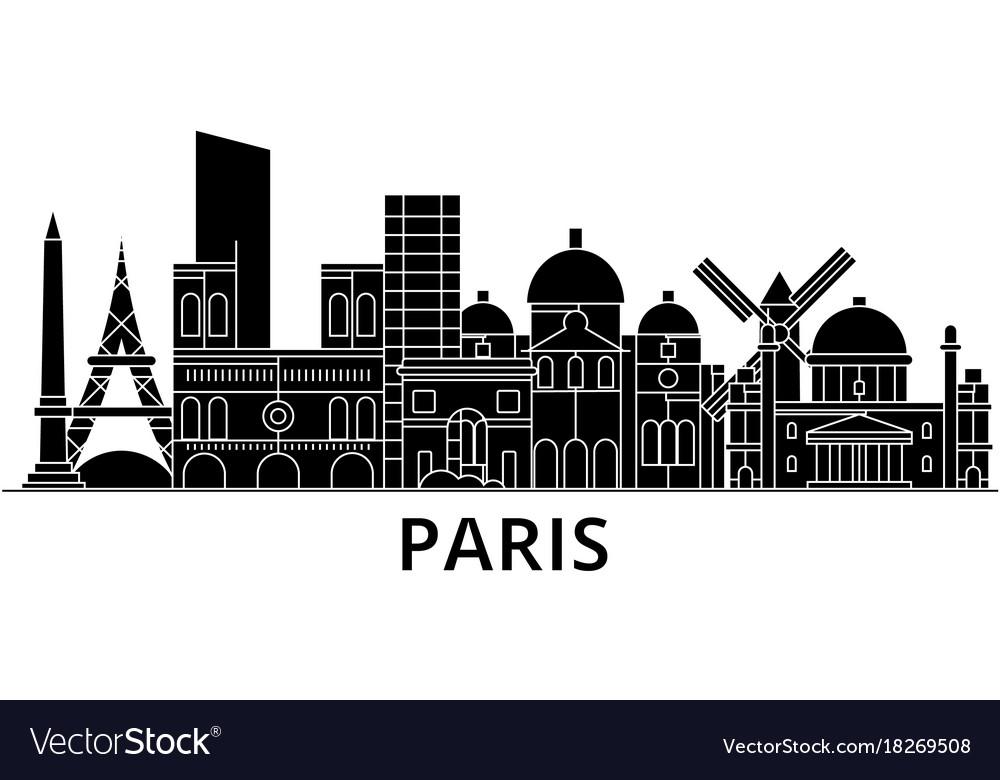 Paris architecture city skyline travel vector image