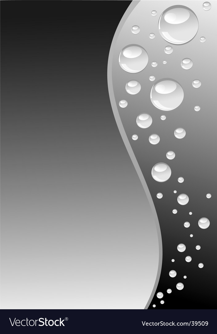 Grey wave with bubbles vertical vector image