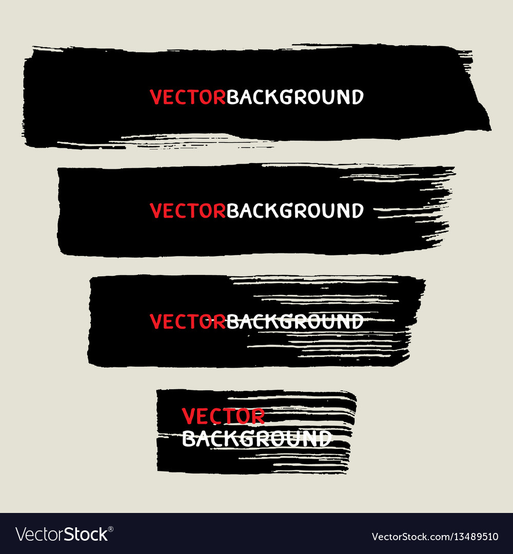 Wide brush texture background collection vector image