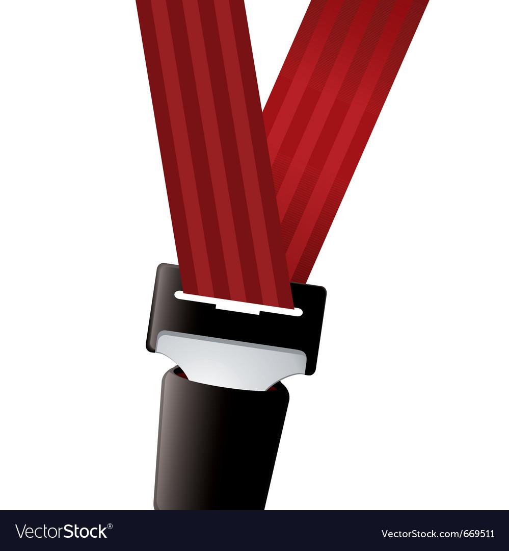 Car seat belt vector image