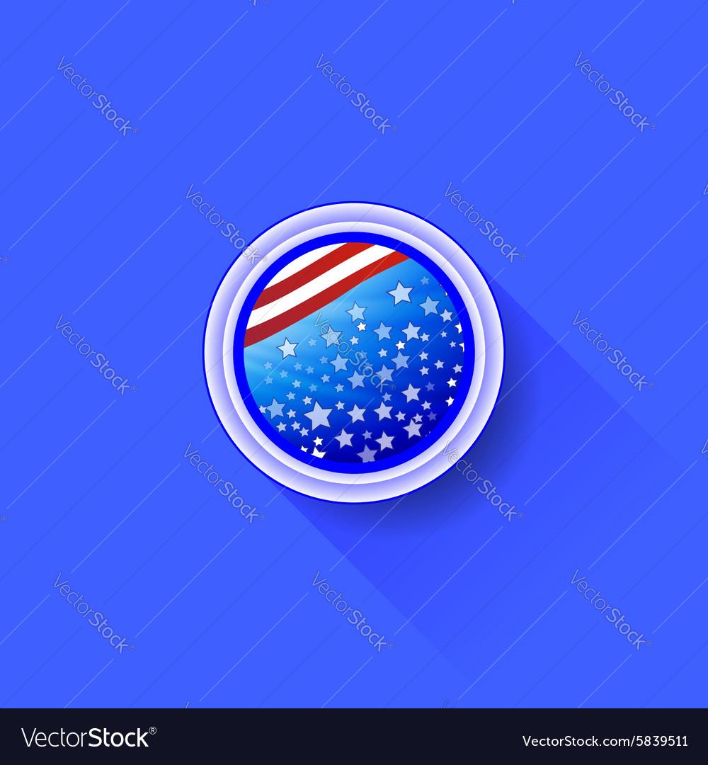 American Icon vector image